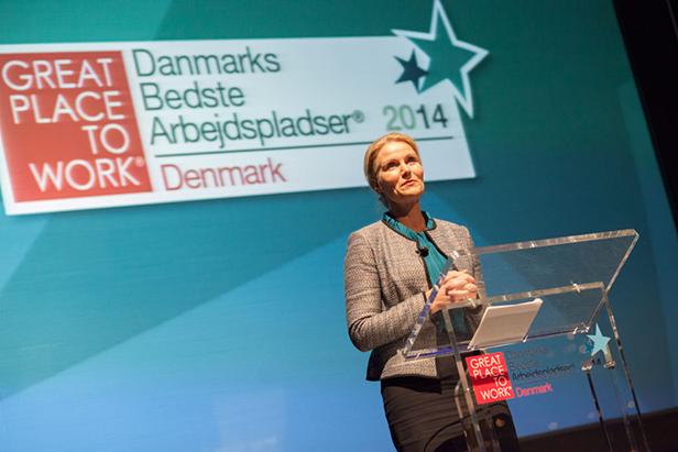 Great Place to Work 2014 Helle Thorning
