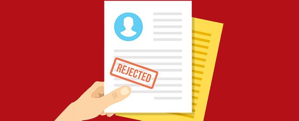 afslag på uopfordret ansøgning